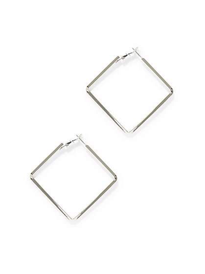 Square Hoop Earring  - New York & Company