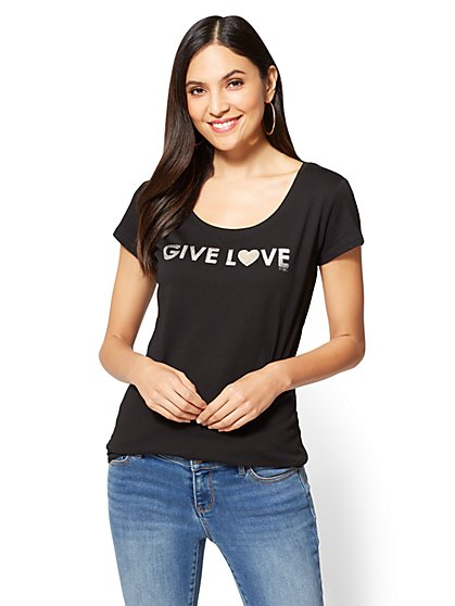 "St. Jude ""Give Love"" Graphic Logo Tee - New York & Company"