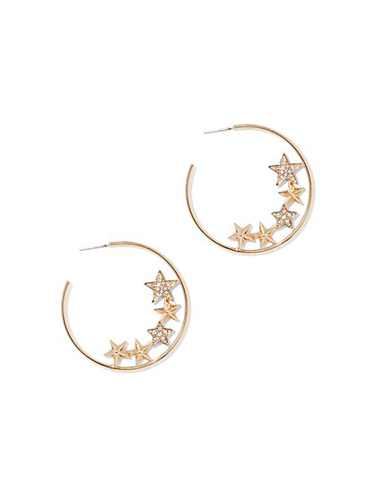 Star Hoop Earring  - New York & Company