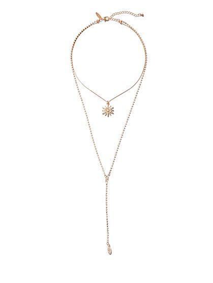 Star Pendant Lariat Necklace - New York & Company