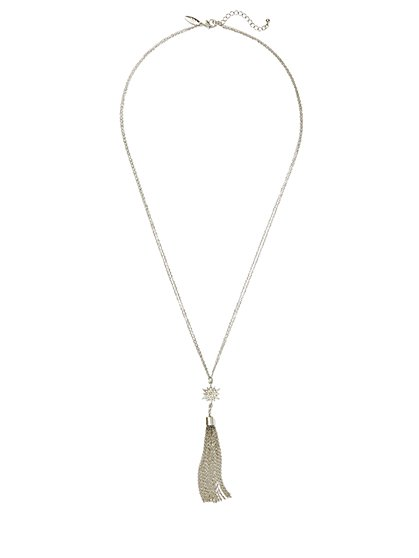 Starburst & Tassel Pendant Necklace  - New York & Company