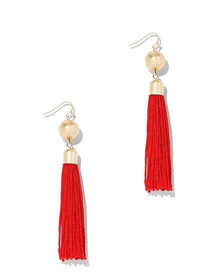 Statement Tassel Drop Earring  - New York & Company