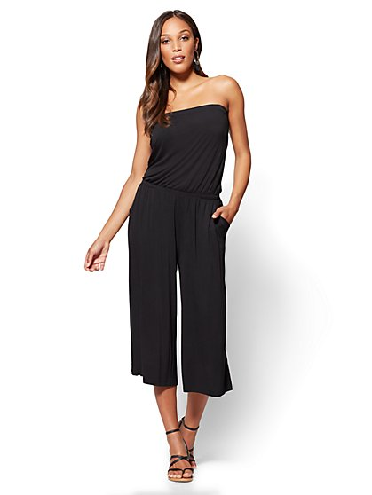 Strapless Jumpsuit - Black - New York & Company