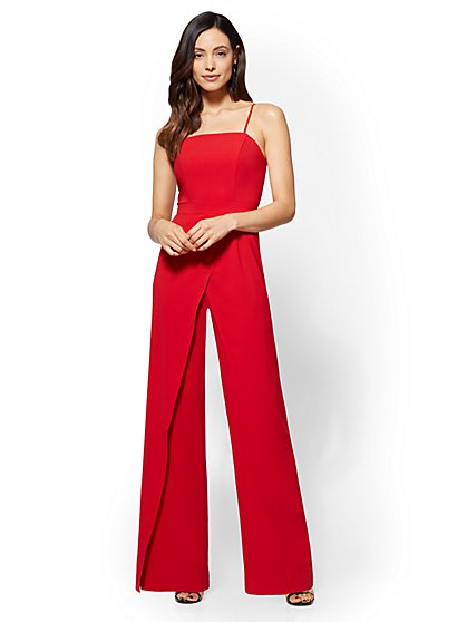 Strapless Overlay Jumpsuit - New York & Company