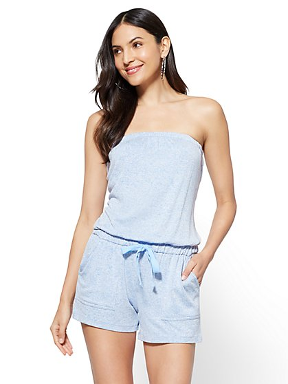 Strapless Romper - Heather Blue - New York & Company