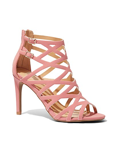 Strappy Cage Sandal  - New York & Company