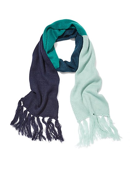 Striped Colorblock Scarf - New York & Company