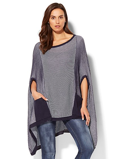 Striped Poncho  - New York & Company