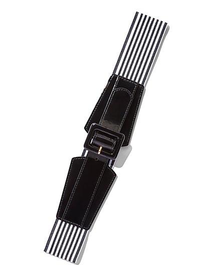 Striped Stretch Belt  - New York & Company