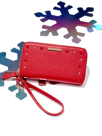 Studded Double-Zip Wallet - New York & Company