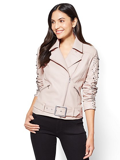 Studded Moto Jacket  - New York & Company