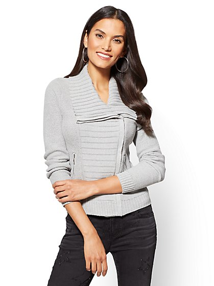 Sweater Moto Jacket  - New York & Company