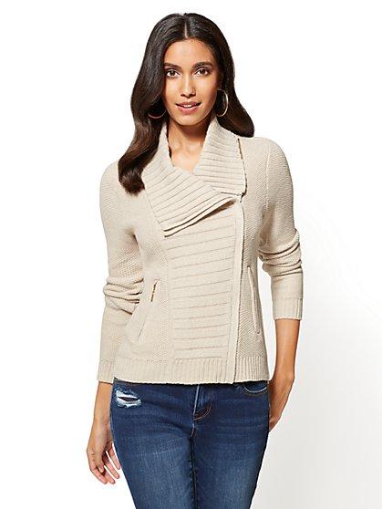 Sweater Moto Jacket  - New York & Company