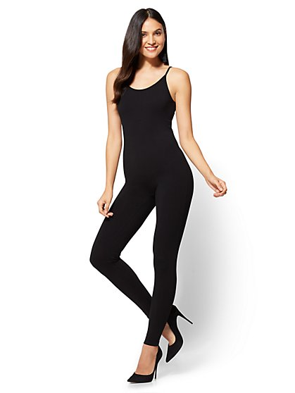 Tank Catsuit - Black  - New York & Company