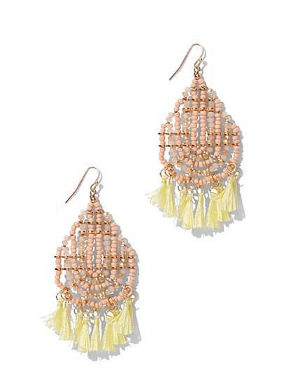 Tassel-Accent Drop Earring  - New York & Company