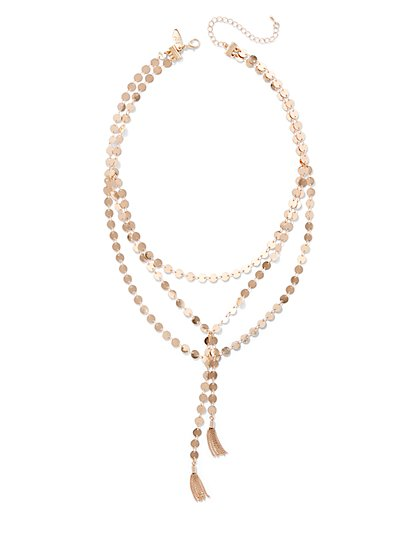 Tassel-Accent Layered Necklace  - New York & Company