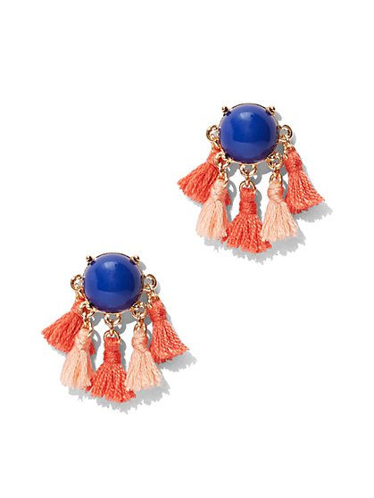 Tassel-Accent Post Earring - New York & Company