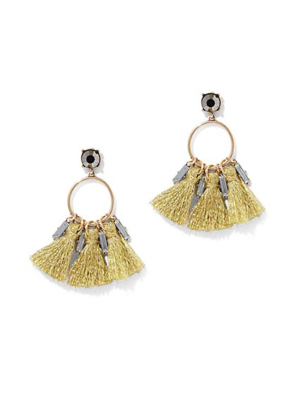 Tassel Hoop Drop Earring - New York & Company