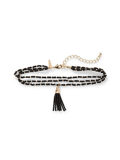 Tassel Pendant Choker Necklace  - New York & Company