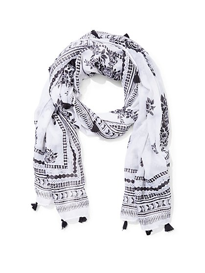 Tassel-Trim Scarf  - New York & Company