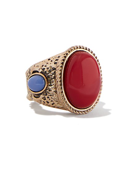 Textured Cabochon Ring  - New York & Company
