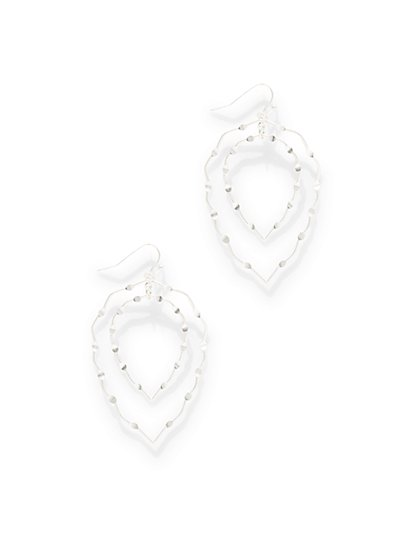 Textured Double-Oval Drop Earring  - New York & Company
