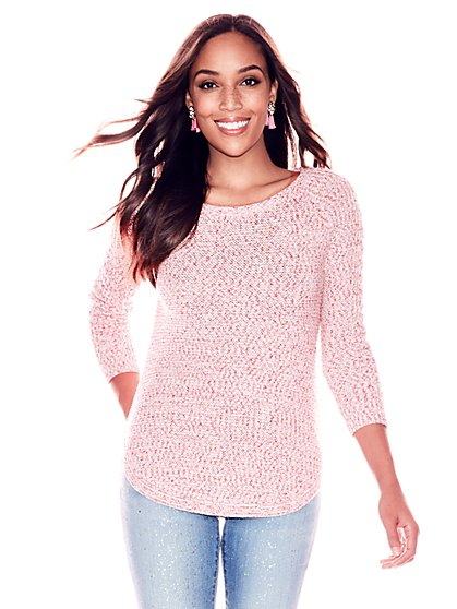 Textured Marled Sweater - New York & Company