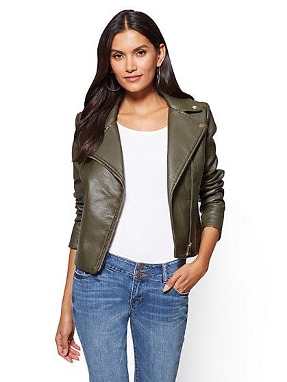 Textured Moto Jacket - New York & Company