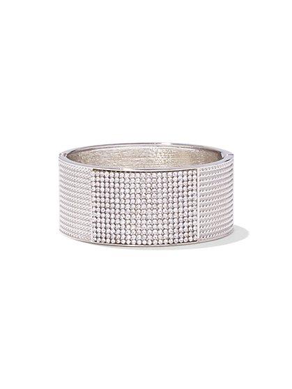 Textured Pave Cuff Bracelet - New York & Company