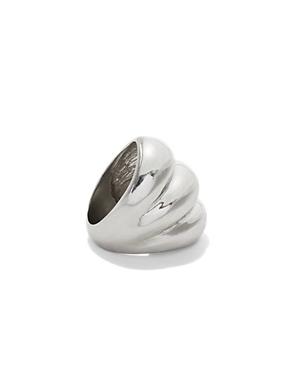 Textured Silvertone Ring  - New York & Company