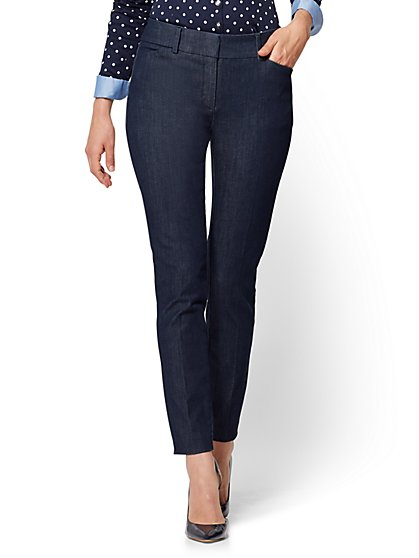 The Audrey Ankle Pant - Curvy - Navy - Tall  - New York & Company