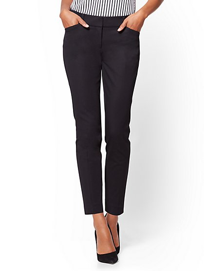 The Audrey Ankle Pant - Curvy - Solid - Petite - New York & Company