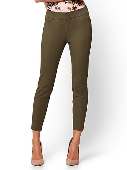 The Audrey Ankle Pant - Curvy - Solid - Tall - New York & Company