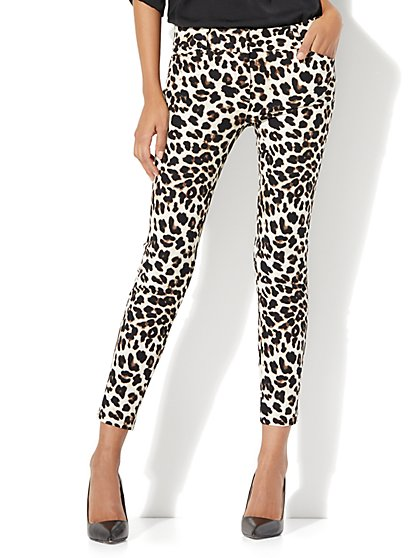 The Audrey Ankle Pant - Leopard Print - Tall - New York & Company