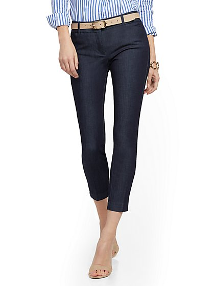 The Audrey Ankle Pant - Navy - New York & Company
