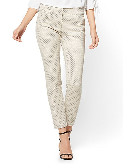The Audrey Ankle Pant - Polka-Dot Print - Petite - New York & Company