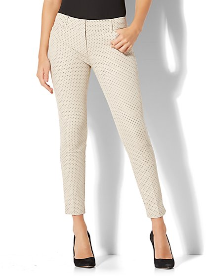 The Audrey Ankle Pant - Polka-Dot Print - Tall - New York & Company
