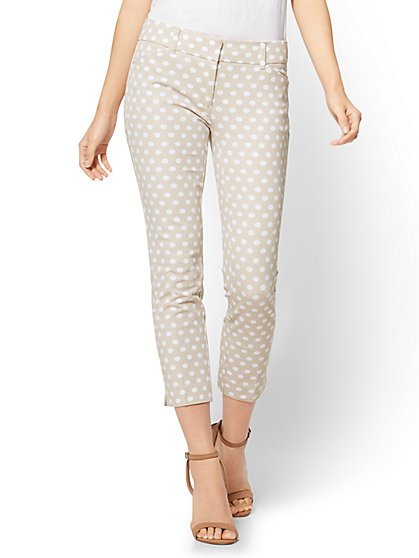 The Audrey Crop Pant - Dot Print - New York & Company