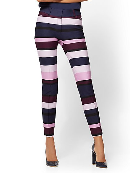 The Audrey Pant - Curvy - Multicolor Stripe - Tall - New York & Company