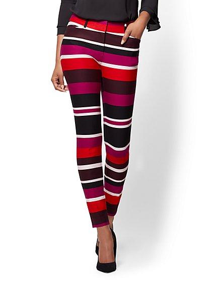 The Audrey Pant - Curvy - Multicolor Stripe - New York & Company