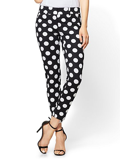 The Audrey Pant - Slim Leg Ankle - 4-Way Stretch - Polka Dot - New York & Company