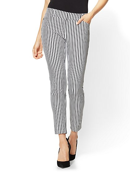 The Audrey Pant - Slim Leg Ankle - 4-Way Stretch - Stripe - New York & Company