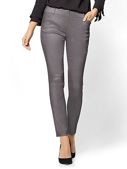 The Audrey Pant - Slim Leg - Metallic - New York & Company
