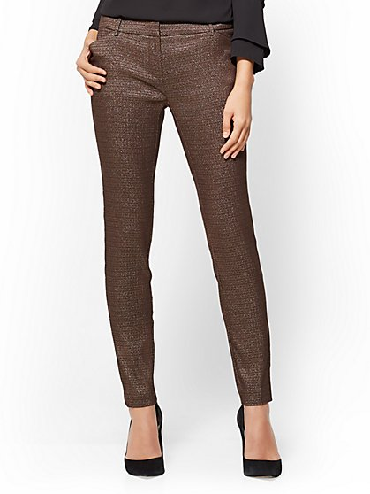 The Audrey Pant - Slim Leg - Metallic - New York & Company