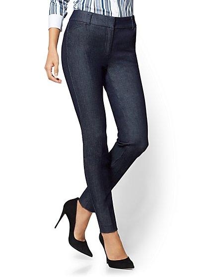 The Audrey Pant - Slim Leg - Navy - Petite - New York & Company