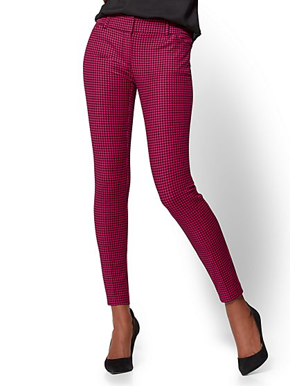 The Audrey Pant - Slim Leg - Small Check Print - New York & Company
