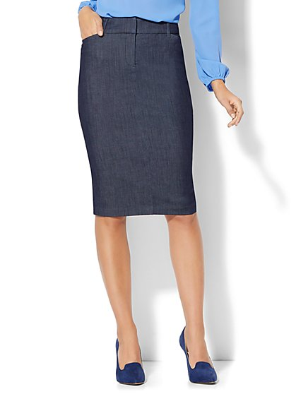 The Audrey Pencil Skirt - Navy - New York & Company