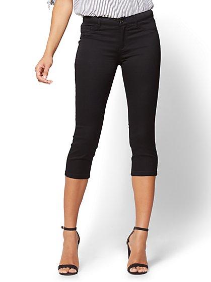 The Crosby Pant - Cropped Slim-Leg - Black - New York & Company