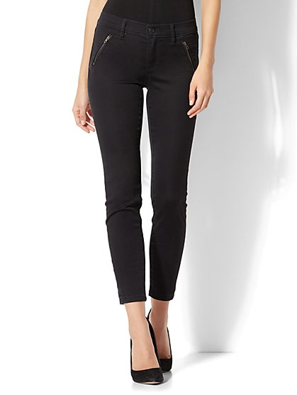 The Crosby Pant - Slim-Leg Ankle - Black - New York & Company