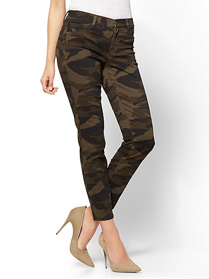 The Crosby Pant - Slim-Leg Ankle - Camo Print - Petite - New York & Company